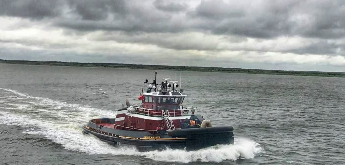 The Rosemary McAllister under way. Photo courtesy McAllister Towing/Patrick Hanna