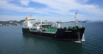 Shell Western LNG B.V. operates the state-of-the-art LNG bunker vessel Cardissa with a capacity of around 6,500 cubic metres of LNG fuel. The vessel enables Shell to serve customers with LNG fuel from the Gate terminal in Rotterdam to locations throughout Europe. Royal Dutch Shell photo
