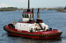 The Oregon ship assist tug Sommer S was one of the first towing vessels to receive a certificate of inspection under the Subchapter M Coast Guard option. Shaver Transportation photo.
