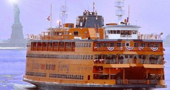 The Staten Island Ferry Guy V. Molinari. The Passenger Vessel Association recommends the Coast Guard exempt large passenger terminals from the TWIC reader requirement. Staten Island Ferry photo.