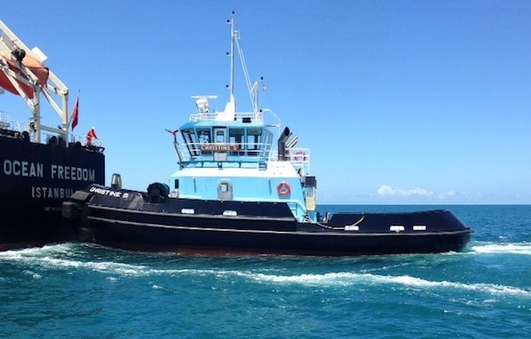 The 5,000-hp tug Christine. E.N. Bisso photo