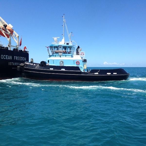 The 5,000-hp tug Christine. E.N. Bisso photo