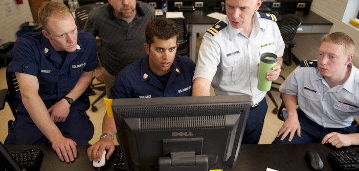 Coast Guard Academy cadets test their network connection during the 2012 Cyber Defense Exercise (CDX) at the U.S. Coast Guard Academy in New London, Conn. U.S. Coast Guard photograph
