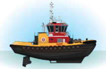 "The new Z-drive tugs will measure 80'x38'x13'2"". Eastern Shipbuilding Group photo"