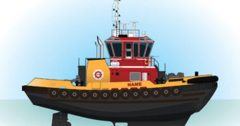 """The new Z-drive tugs will measure 80'x38'x13'2"""". Eastern Shipbuilding Group photo"""