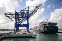 New Con-Ro ship made its first delivery to Puerto Rico. Crowley Maritime photo