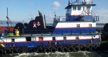 The Buchanan 12 suffered a steering loss Aug. 8, 2018 while pushing barges in the Hudson River. Buchanan Marine photo.