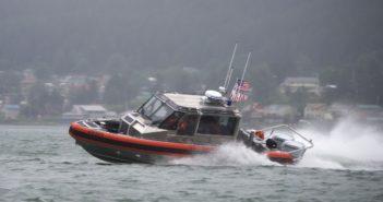 Members of Coast Guard Station Juneau test the capabilities of their new 29' Response Boat-Small II at Juneau, Alaska, July 10, 2018. Coast Guard photo/PO1 Jon-Paul Rios.