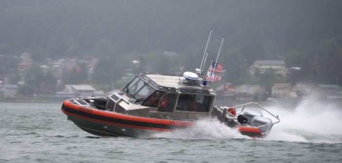 Members of Coast Guard Station Juneau test the capabilities of their new 29' Response Boat-Small II at Juneau, Alaska, July 10, 2018. Coast Guard photo/PO1 Jon-Paul Rios.