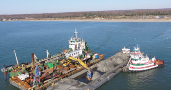 A dredging project in Connecticut waters. Connecticut Port Authority photo.