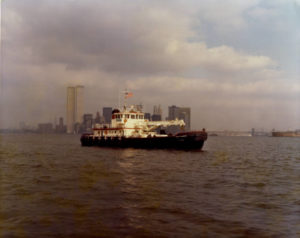 Corps of Engineers drift collection vessel Hayward. ACE photo.