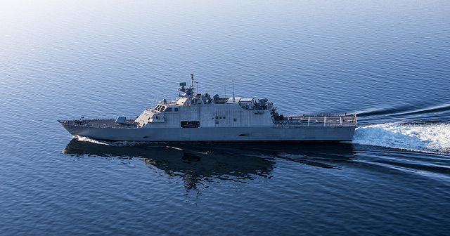 Marinette Marine has delivered two more littoral combat ships to the U.S. Navy. Lockheed Martin photo