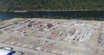 Shell Chemical Appalachia broke ground in 2017 on a $6 billion petrochemicals complex in Monaca, Pa., on the Ohio River. Shell photo