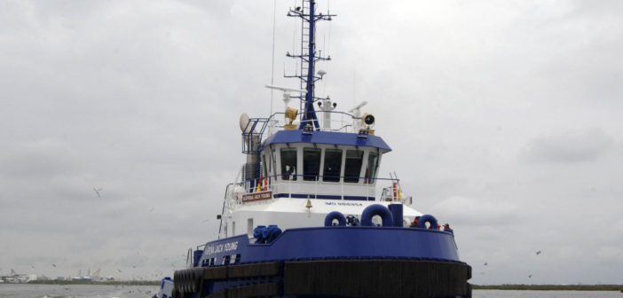 The Kāpena Jack Young is the first of four tugs to be built for Young Brothers of Hawaii. Foss Maritime photo.