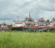 Stacked OSVs in the U.S. Gulf. Ken Hocke photo