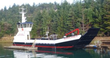 The landing craft re-entered service at the beginning of the year, providing freight transportation throughout the San Juan Islands. EBDG photo