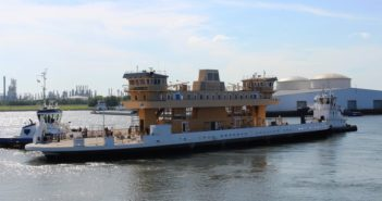 Virginia Department of Transportation ferry recently launched at VT Halter Marine shipyard. VT Halter Marine photo