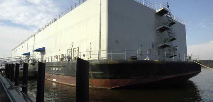 New accommodations barges for the Navy are scheduled for delivery by July 2020. U.S. Navy photo