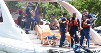 A Coast Guard crew boarded a vessel near Miami during a sweep to check for illegal charter operations Sept. 1, 2018. Coast Guard photo/ PO3 Brandon Murray.