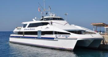 The Jet Cat Express at Avalon Harbor on Catalina Island. David Krapf photo