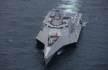 Austal USA recently delivered the 16th LCS to the Navy. Austal USA photo