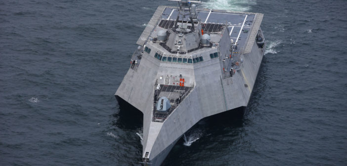 Austal USA recently received an order from the Navy for two additional LCSes. Austal USA photo