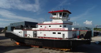 The third of four triple-screw towboats from C&C Marine and Repair for Marquette Transportation. The fourth will be delivered in December. C&C Marine and Repair photo
