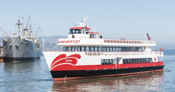 The Enhydra is the first aluminum hulled, lithium-ion battery plug-in hybrid vessel built in the U.S. Red and White Fleet photo