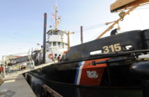 At 72 years in service, the cutter Smilax is the oldest vessel of the Coast Guard inland fleet. Coast Guard photo.
