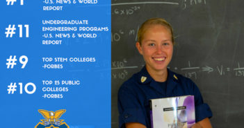 The U.S. Coast Guard Academy has again been listed as one of the top institutions of higher education in the U.S. News & World Report, The Princeton Review and Forbes Magazine college rankings. Photo by Petty Officer 2nd Class Lauren Laughlin
