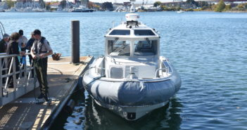 The boat was purchased with a grant of $59,915 from the Maine Outdoor Heritage Fund and a grant of $241,305 from the Federal Emergency Management Agency's Port Security Grant Program. Maine Marine Patrol photo