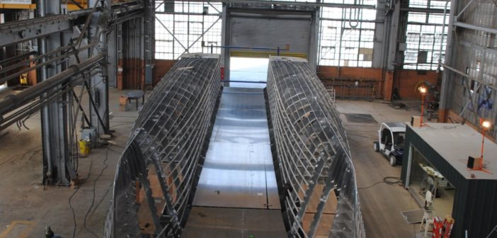 New crew transfer/ship stores vessel under construction at Moose Boats. Moose Boats photo