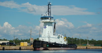 New 109' ATB tug was built at Master Boat Builders for Kirby Offshore. Ken Hocke photo