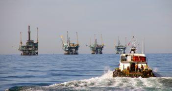 Four platforms off the coast of California. BOEM photo