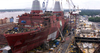 The 254-acre property formerly known as Avondale Shipyard will reopen as Avondale Marine. Northrup Grumman photo
