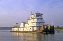 The contract signals Metal Shark's expansion into the steel shipbuilding sector and formal entry into the inland towboat market. Metal Shark photo