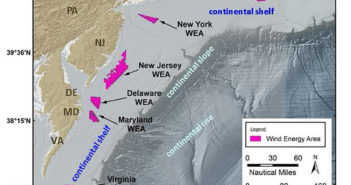 A NOAA Fisheries report assesses the potential impact of offshore wind energy development on East Coast fish populations. NOAA image.