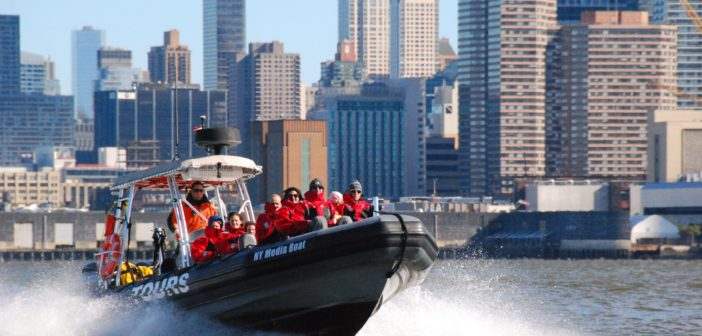 This Ribcraft 9-meter rigid hull inflatable is the workhorse of New York Media Boat. Kirk Moore photo.