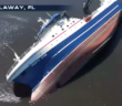 The finished 261-foot Alaska factory trawler North Star on its starboard side in Saint Andrews Bay, Fla. Screenshot from Weather Nation video.