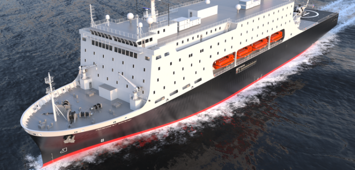 The first National Security Multi-Mission Vessel is expected to be delivered in 2022. SUNY Maritime image.