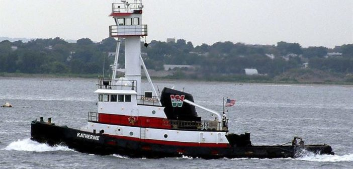 The Weeks Marine tugboat Katherine is one of two vessels that received the first Subchapter M certificates of inspection from the Coast Guard in New York. Weeks Marine photo.