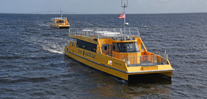 The water taxis ran on their own bottoms from Louisiana to Washington, D.C. Metal Shark photo