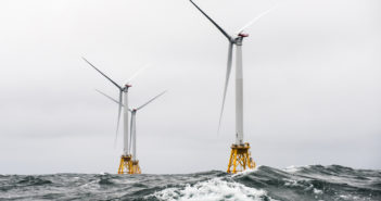 Deepwater Wind's Block Island Wind Farm is the first commercial wind energy project inU.S. waters. Department of Energy photo.