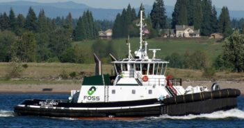 The contract is for four new tugs with an option to build as many as six more. Nichols Brothers Boat Builders photo.