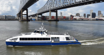 Two new passenger ferries for New Orleans couldn't be more different than the boats they are replacing. Metal Shark photo