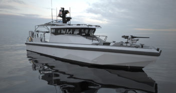 The first public showing of Metal Shark's new, next-generation Defiant X patrol boat platform will take place at the International WorkBoat Show starting Wednesday. Metal Shark rendering