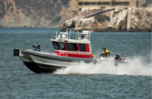 Multi-mission aluminum catamaran is operating in the San Francisco Bay area. Moose Boats photo