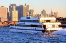 A Seastreak ferry in New York Harbor. Seastreak photo.