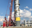 On Oct. 10, 2018, Shell Chemical Appalachia LLC (Shell) announced the successful installation of its quench tower – the largest piece of equipment at its Pennsylvania Petrochemicals Complex, currently under construction. Shell photo
