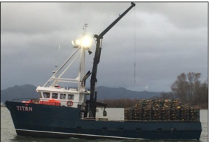 The Titan, a newly refitted Northwest crab boat, was a total loss of $1.8 million after her captain dozed and the vessel grounded on an Oregon jetty in December 2014. HD Fisheries photo via NTSB.